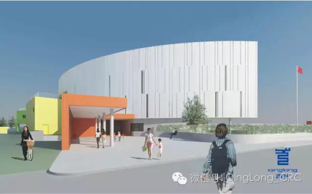 星韵幼儿园主体建筑的设计灵感来自于初升的大阳,外形和朝阳